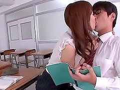 Stunning Teacher Arisu Miyuki Gets a Nerd Off with Handjob and Blowjob