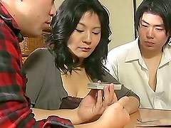 Mature Asian Wife Having a Blast with Two Cocks in Threesome
