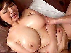 Hot Chubby Busty MILF Marie Momoka Pleasing a Dick with Tits and Pussy