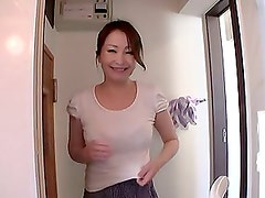 Mature Asian Beauty Gives a POV Blowjob On Her Knees In The Bathroom