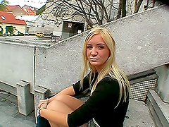 Impressive Blowjob and Hardcore Action in Public POV with Stunning Blonde