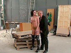 Backstage Hot Anal sex scene with brunette whore