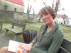 Lucky Day Out with Sexy Short-Haired Girl in POV Clip