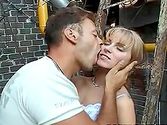 Claudia Jameson enjoys riding Rocco Siffredi's massive shaft