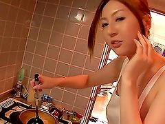 Hot Yui Tatsumi cooks up steamy wild sex with her friend