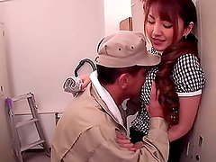 Japanese Hottie Seduced & Fucked Hard In Locker Room.