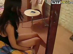 Brunette Girlfriend Goes Shopping and Blowjobs in the Changing Room