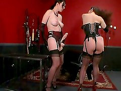 Lesbian Strapon Sex with Anastasia Pierce and Jewell Marceau in the dungeon