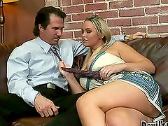 Abbey Brooks seduces a guy and fucks him in various positions