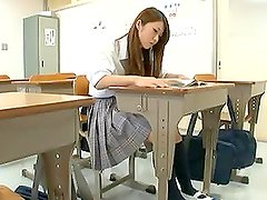 Hot Schoolgirl Plays With Herself And Fucked Doggy Style