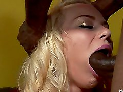 Black guy with monster cock fucks lovely White chick