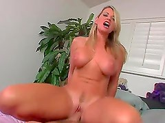 Blonde Babe Has Her Tight Anus Drilled After Showing Her Big Tits