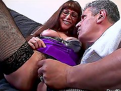 Alexandra Silk the sexy MILF riding big hard cock
