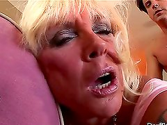 Shelly the horny blonde granny love to fuck very much