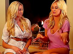 A Chat Between two very Sexy Blondes