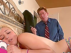 Adorable Kyley Richman getting fucked by her father