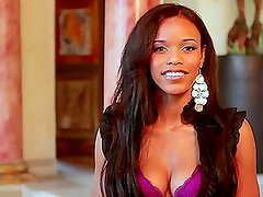 Ebony Gal Fierra Cruz Answers All Questions While Naked