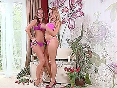Silvia Saint and Stacy Silver fingering each other
