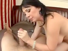 Gorgeous mature with luscious large tits gets ravaged