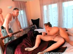 Milf double penetration with cumshots