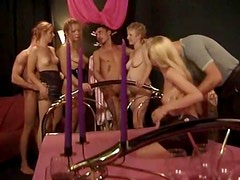 Orgy party with lusty licking and fucking
