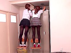 Two Terrifically Naughty Schoolgirls Enjoy Some Schlong