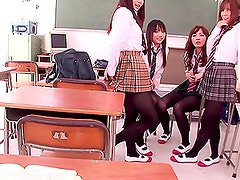 Crazy sex education class for horny school girls