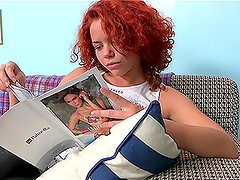 Booty and busty curlty babe Masha gets rapped and loves it