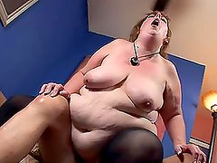Very fat mature lady getting fucked hard and deep