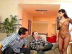 Kami Andrews the sexy brunette in fishnets gets fucked
