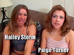Hailey Storm and Paige Turner milk Peter North's cock dry in their mouths