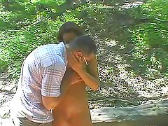 Cony Ferrara the slutty brunette getting fucked in the forest