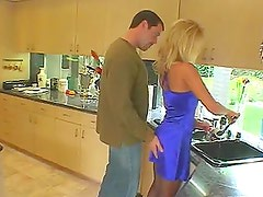 Mark Davis fucks Zana's tight asshole from behind in the kitchen