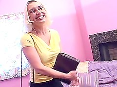Blonde milf Malory Knoxxx fucks a black stud and gets her ass filled with cum