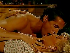 Peter North fucks a hot blonde and cums on her pussy