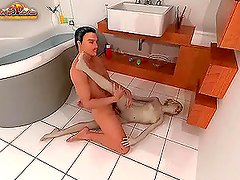3D blonde moans wildly while getting her snatch pounded hard