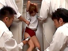 Chika Eiro gets naughty with a few guys in the locker room