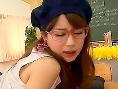 Japanese schoolgirl gets hotly fucked in the classroom