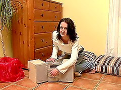 Elizaveta starts oral first and then rides his cock