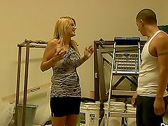 Robbye Bentley the gorgeous blonde gets fucked and jizzed on