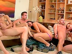 Two neighboring couples fucking and changing partners