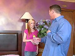 Amy Quinn the naughty babysitter fucks and sucks a cock
