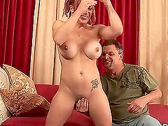 Shannon Kelly fucks a dude and gets cum on her hairy twat