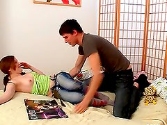 Hot teen Lilya gets her tight pussy licked and fucked
