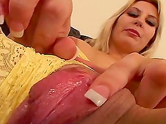 Busty blonde milf Celestia Star has sex and gets cum on her face