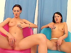 Lovely hotties Margarete and Milana A are sharing a huge cock