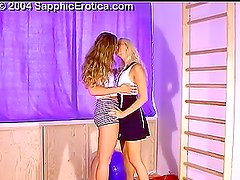 Two sexy babes eating and fucking each other's pussies