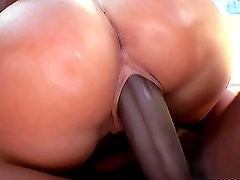Angelica Heart takes two big black cocks into her tight holes