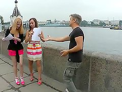 Rocco picks up two girls and makes their dreams come true