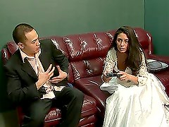 Nikki Daniels takes her wedding dress off and gets fucked